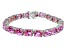 Bella Luce ® 38.90ctw Pink Diamond Simulant Sterling Silver Bracelet 7.25