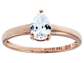 Bella Luce 1.15ct Pear Diamond Simulant 18k Rose Gold Over Sterling Silver Ring