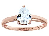 Bella Luce 1.36ct Pear Diamond Simulant 18k Rose Gold Over Sterling Silver Ring