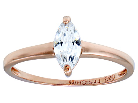 Bella Luce .76ct White Diamond Simulant 18k Rose Gold Over Sterling Silver Ring