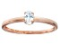 Cubic Zirconia 18k Rose Gold Over Sterling Silver Ring .33ct