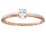 Bella Luce .33ct Oval Diamond Simulant 18k Rose Gold Over Sterling Silver Ring