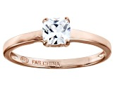 Bella Luce 1.00ct Square Diamond Simulant 18k Rose Gold Over Sterling Silver Ring