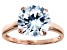 Bella Luce 6.25ct Round Diamond Simulant 18k Rose Gold Over Sterling Silver Ring