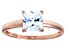 Bella Luce 2.00ct White Diamond Simulant 18k Rose Gold Over Sterling Silver Ring