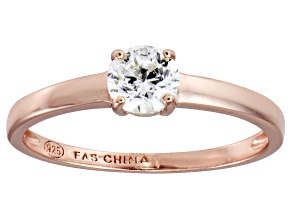 Bella Luce .75ct Round Diamond Simulant 18k Rose Gold Over Sterling Silver Ring