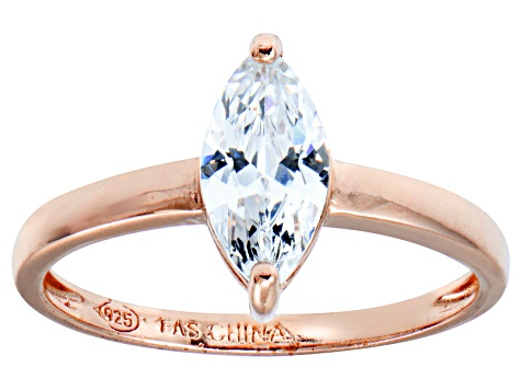 Bella Luce 1.54ct White Diamond Simulant 18k Rose Gold Over Sterling Silver Ring