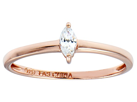 Bella Luce .25ct White Diamond Simulant 18k Rose Gold Over Sterling Silver Ring