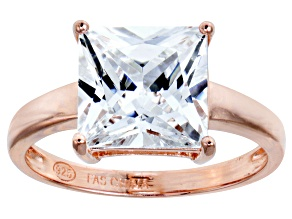 Bella Luce 6.65ct White Diamond Simulant 18k Rose Gold Over Sterling Silver Ring