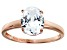 Bella Luce 3.00ct Oval Diamond Simulant 18k Rose Gold Over Sterling Silver Ring