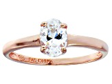 Bella Luce 1.20ct Oval Diamond Simulant 18k Rose Gold Over Sterling Silver Ring