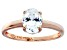 Bella Luce 1.95ctw Oval Diamond Simulant 18k Rose Gold Over Sterling Silver Ring