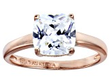 Bella Luce 2.52ct Square Diamond Simulant 18k Rose Gold Over Sterling Silver Ring