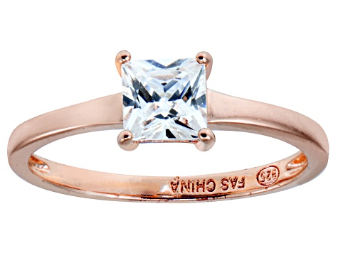 Bella Luce 1.15ct White Diamond Simulant 18k Rose Gold Over Sterling Silver Ring