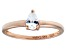 Bella Luce .64ct Pear Diamond Simulant 18k Rose Gold Over Sterling Silver Ring