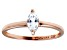 Bella Luce .57ct White Diamond Simulant 18k Rose Gold Over Sterling Silver Ring