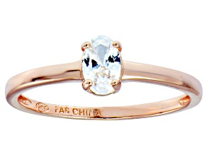 Bella Luce .70ct Oval Diamond Simulant 18k Rose Gold Over Sterling Silver Ring
