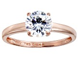 Bella Luce 2.06ct Round Diamond Simulant 18k Rose Gold Over Sterling Silver Ring