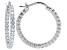 Bella Luce ® 3.24ctw Diamond Simulant 25mm Round Sterling Silver Hoop Earrings
