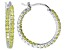 Bella Luce® Yellow Diamond Simulant 25mm Round Sterling Silver Hoop Earrings