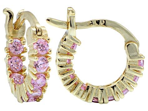 fa02beccd Bella Luce ® 1.08ctw Pink Diamond Simulant 12mm Round 18k Over Silver Hoop  Earrings - BLI891 | JTV.com