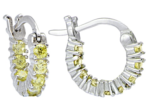 947da7d61 Bella Luce® Yellow Diamond Simulant 12mm Round Sterling Silver Hoop Earrings