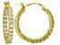 Bella Luce ® 2.64ctw Diamond Simulant 22mm Round 18k Over Silver Hoop Earrings