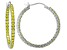 Bella Luce® 4ctw Yellow Diamond Simulant 32mm Round Sterling Silver Hoop Earrings