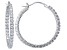 Bella Luce ® 3.96ctw Diamond Simulant 30mm Round Sterling Silver Hoop Earrings