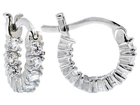 23bafd7a9 Bella Luce ® 1.08ctw Diamond Simulant 12mm Round Sterling Silver Hoop  Earrings