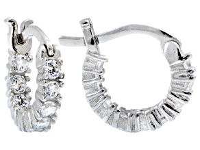 Bella Luce ® 1.08ctw Diamond Simulant 12mm Round Sterling Silver Hoop Earrings