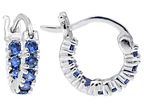 9ad600c5e Bella Luce ® 1.08ctw Tanzanite Simulant 12mm Round Sterling Silver Hoop  Earrings