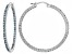 Bella Luce®6.60ctw Blue Diamond Simulant Rhodium Over Silver Hoop Earrings