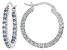 Bella Luce®2.64ctw Blue Diamond Simulant Rhodium Over Silver Hoop Earrings