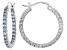 Bella Luce®3.24ctw Blue Diamond Simulant Rhodium Over Silver Hoop Earrings