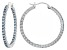 Bella Luce®4.80ctw Blue Diamond Simulant Rhodium Over Silver Hoop Earrings