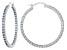 Bella Luce®5.40ctw Blue Diamond Simulant Rhodium Over Silver Hoop Earrings