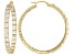 Bella Luce® 9.36ctw 18k Yellow Gold Over Sterling Silver  inside/Out Hoop Earrings.