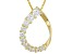 Bella Luce® 1.60ctw 18k Yellow Gold Over Sterling Silver Slide With Chain