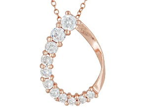 Bella Luce® 1.60ctw 18k Rose Gold Over Sterling Silver Slide With Chain