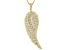BELLA LUCE® 2.00CTW 18K YELLOW GOLD OVER S/S ANGEL WING PENDANT WITH 18