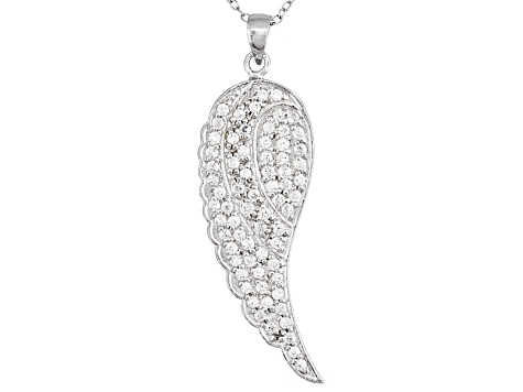 Bella Luce 2ctw White Cubic Zirconia Sterling Silver Angel Wing Pendant Necklace