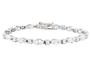 Cubic Zirconia Rhodium Over Sterling Silver Bracelet 20.70ctw