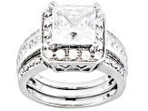 Bella Luce 5.94ctw Cubic Zirconia .925 Sterling Silver Ring With Guard