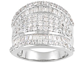 Womens Cocktail Band Ring Bella Luce White Cubic Zirconia 5ctw Sterling Silver