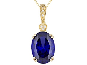 21.90ctw Tanzanite Color 18k Yg Over Sterling Enhancer With 18