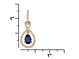 1.86ctw Tanzanite Color 18k Yg Over Sterling Silver Pendant With 18