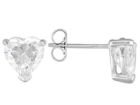 1b3f13615 Bella Luce 7ctw Heart Cubic Zirconia Silver Solitaire Stud Earrings  Necklace Set