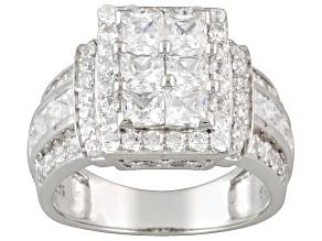 Cubic Zirconia Silver Ring 3.26ctw (2.44ctw DEW)