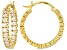 Bella Luce® 2.10ctw 18k Yellow Gold Over Sterling Silver inside/Out Hoop Earrings
